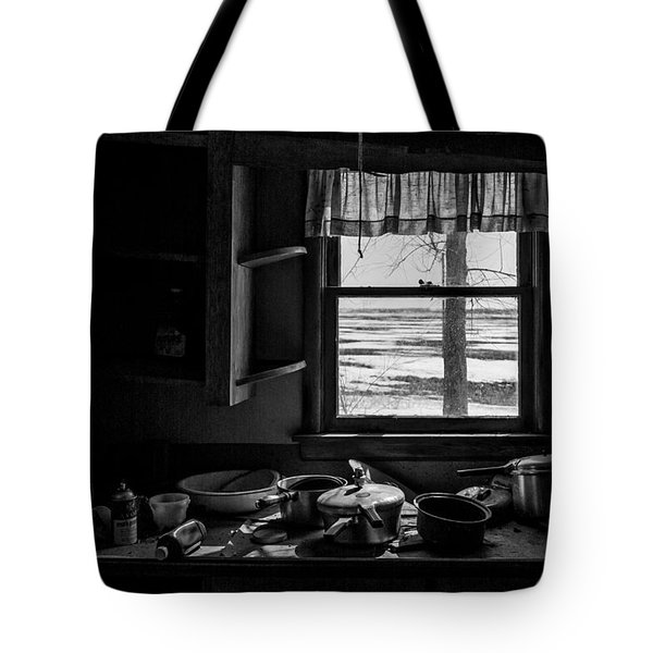 Tote Bag featuring the photograph Abandoned Kitchen by Dan Traun
