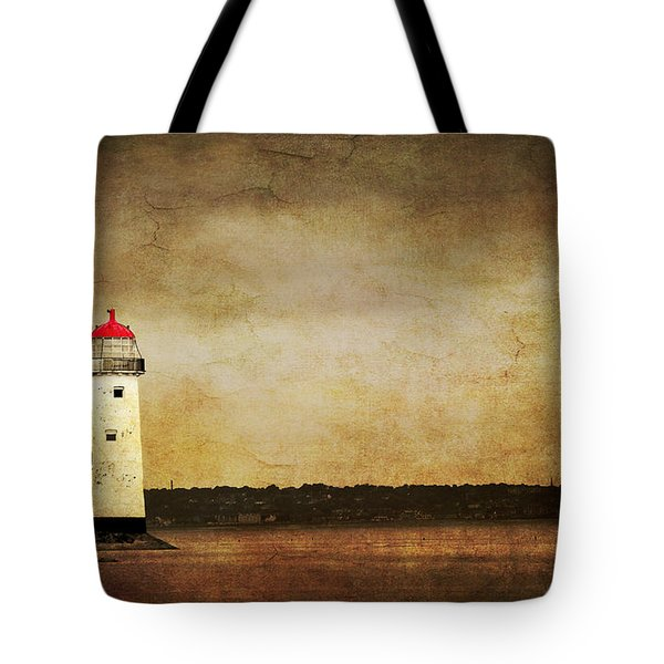 Abandoned Lighthouse Tote Bag by Meirion Matthias