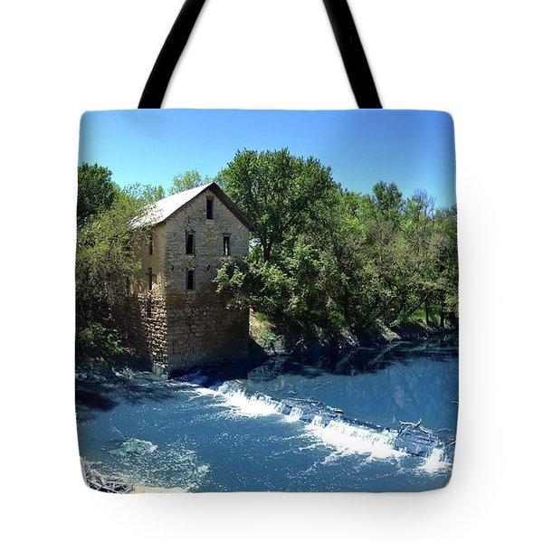 Abandoned Mill At Cedar Point Tote Bag by Rod Seel