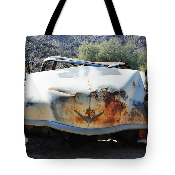 Tote Bag featuring the photograph Abandoned Mojave Auto by Kyle Hanson