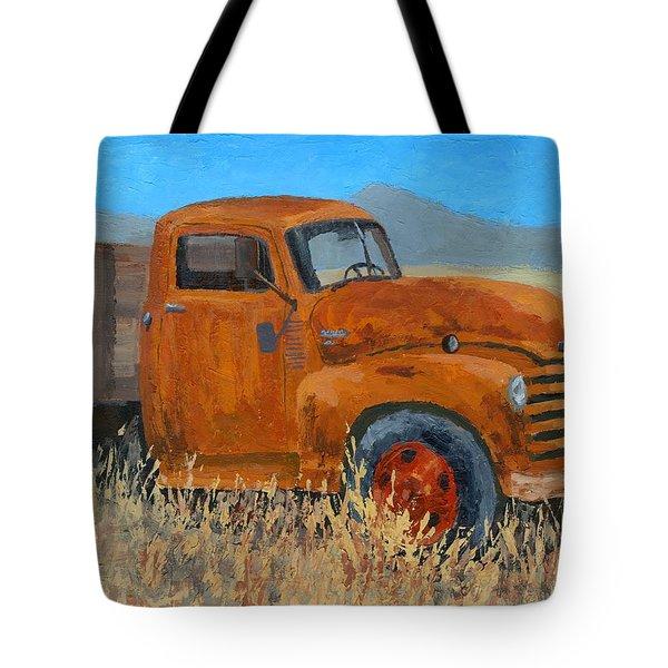 Abandoned Orange Chevy Tote Bag