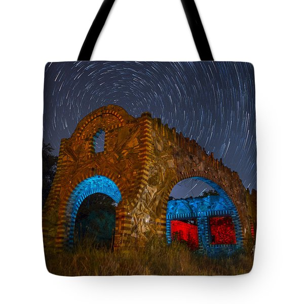 Tote Bag featuring the photograph Abandoned Outlaw Gas Station by Keith Kapple