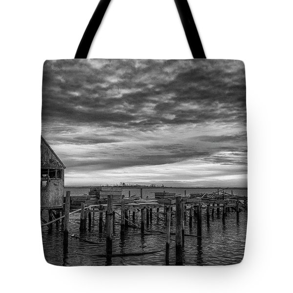 Abandoned Pier Tote Bag by David Cote