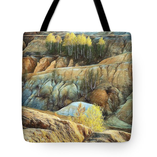 Tote Bag featuring the photograph Abandoned Quarry 2 by Vladimir Kholostykh