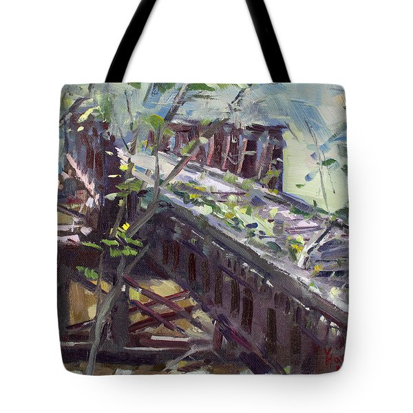 Abandoned Railroad Bridge In Tonawanda Tote Bag