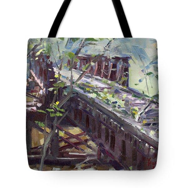 Abandoned Railroad Bridge In Tonawanda Tote Bag