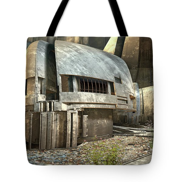 Abandoned Rial Station Tote Bag