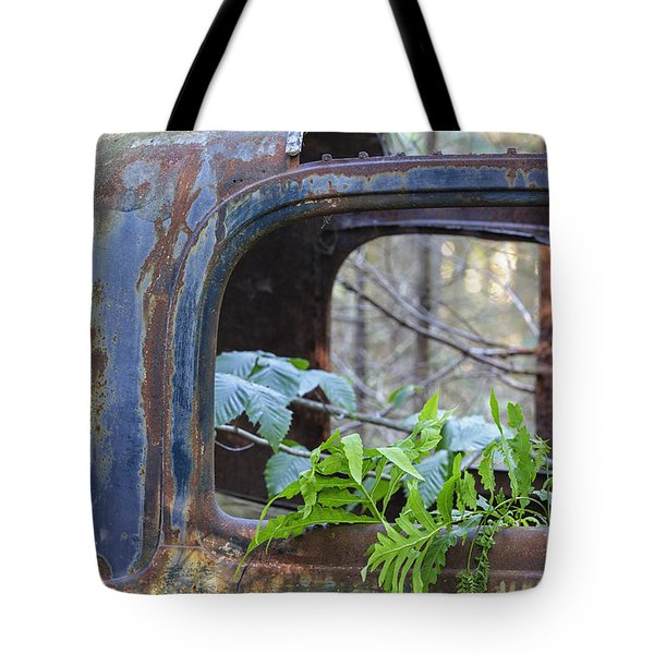 Abandoned Rusted Car - New Hampshire Forest Tote Bag