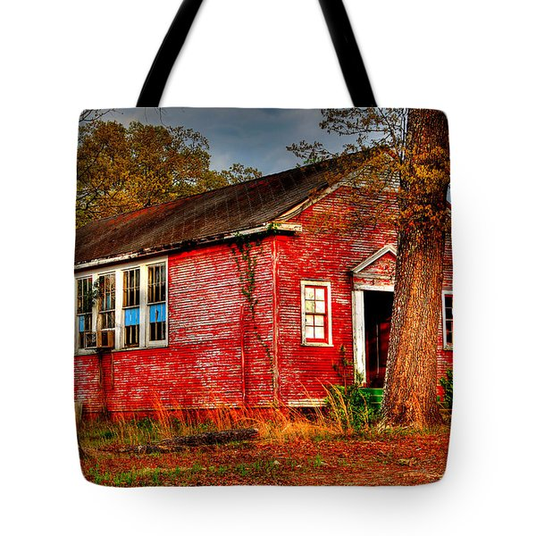 Abandoned School Building Tote Bag by Ester  Rogers
