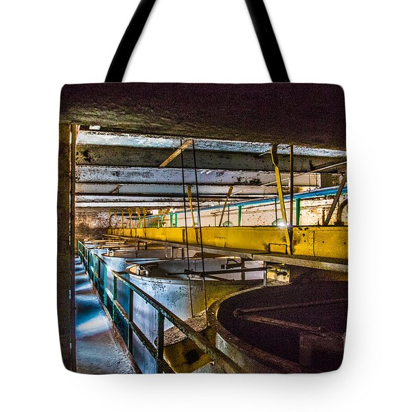 Abandoned Silo Vats Tote Bag by Darleen Stry