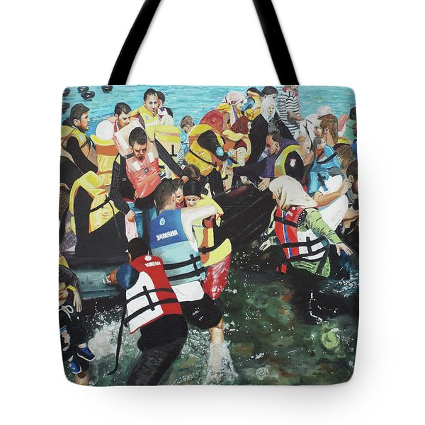 Tote Bag featuring the painting Abandoned Souls by Eric Kempson