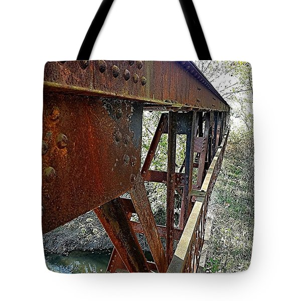 Abandoned Steel Bridge Nashville Indiana Tote Bag