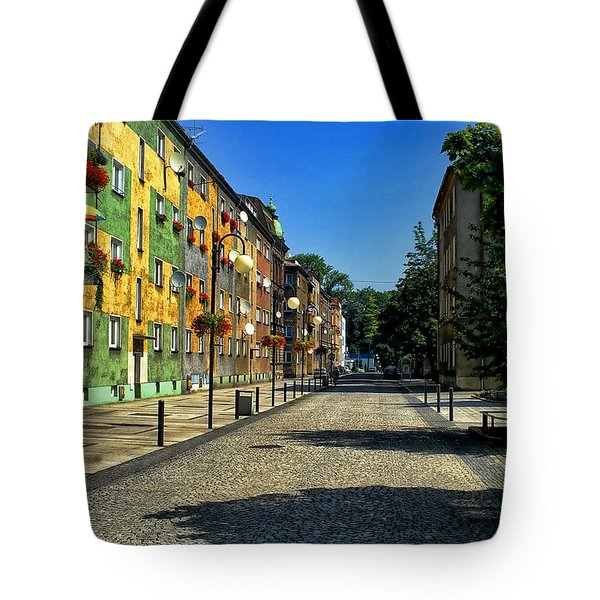 Tote Bag featuring the photograph Abandoned Street by Mariola Bitner