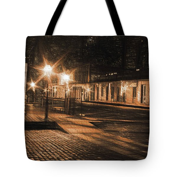 Abandoned Street Tote Bag by Michael Cleere