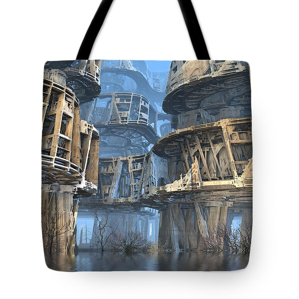 Abandoned Swamp Village Tote Bag