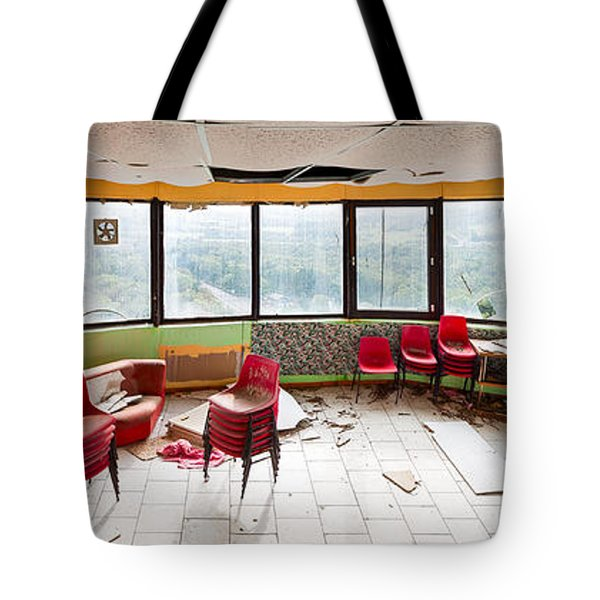 Abandoned Tower Restaurant - Urban Panorama Tote Bag