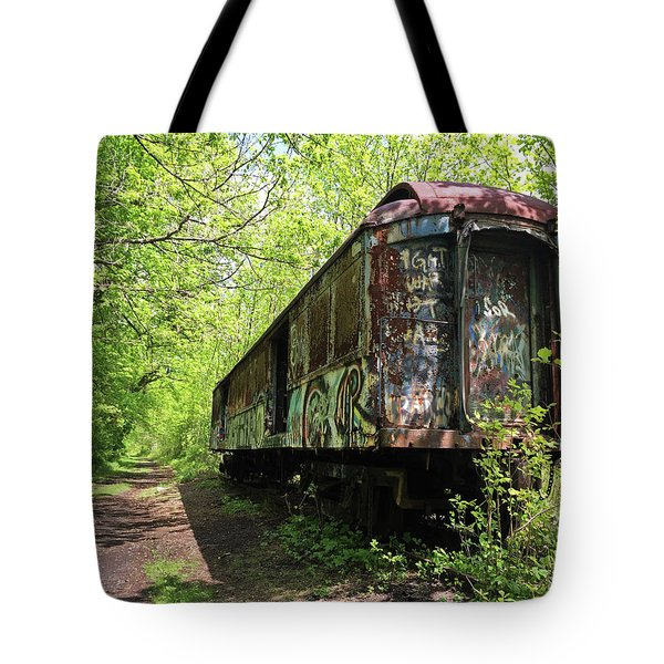 Abandoned Train Car Tote Bag
