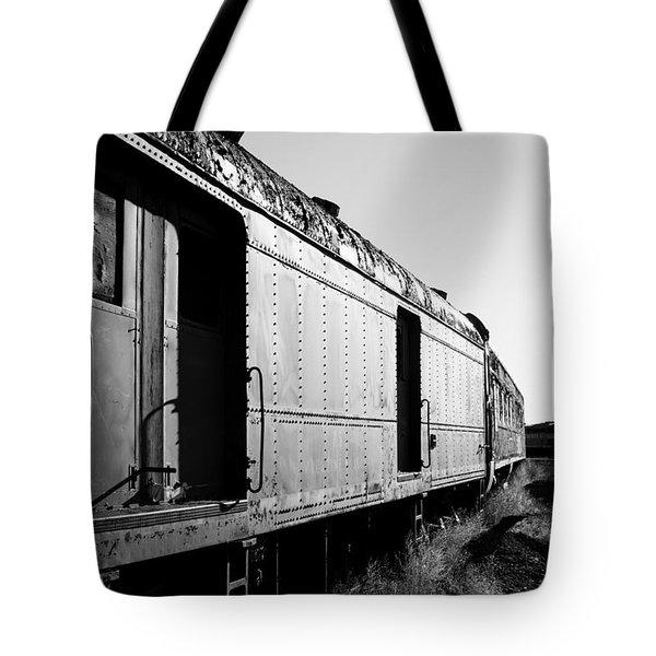 Abandoned Train Cars Tote Bag