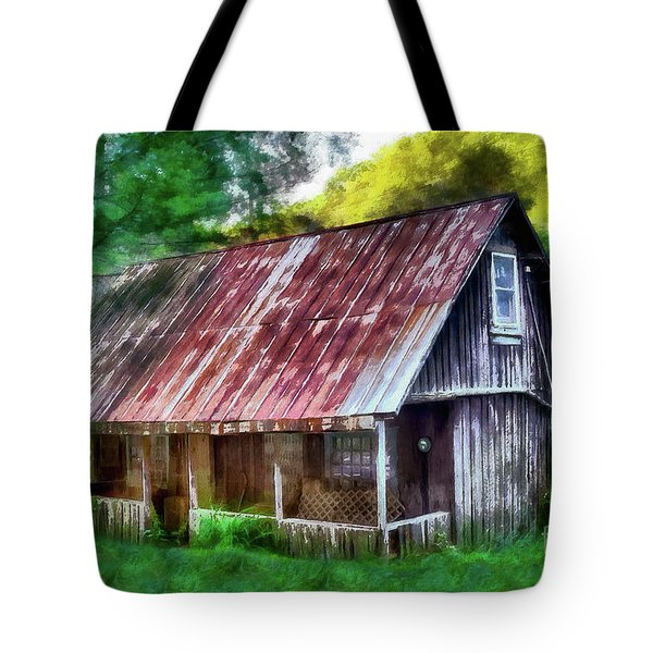 Abandoned Vintage House In The Woods Ap Tote Bag