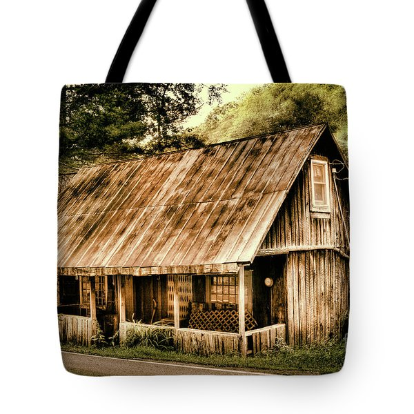 Tote Bag featuring the photograph Abandoned Vintage House In The Woods by Dan Carmichael