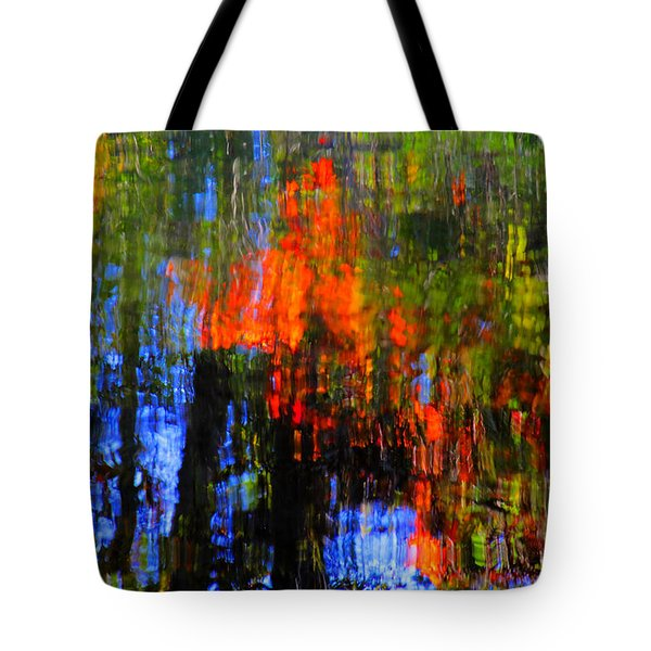 Tote Bag featuring the photograph Abastract Fall Colors by Andy Lawless