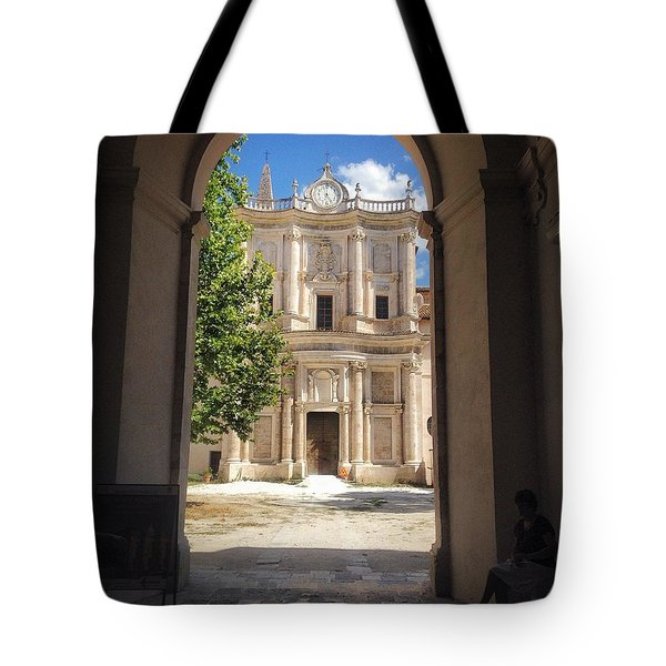 Abbey Of The Holy Spirit At Morrone In Sulmona, Italy Tote Bag
