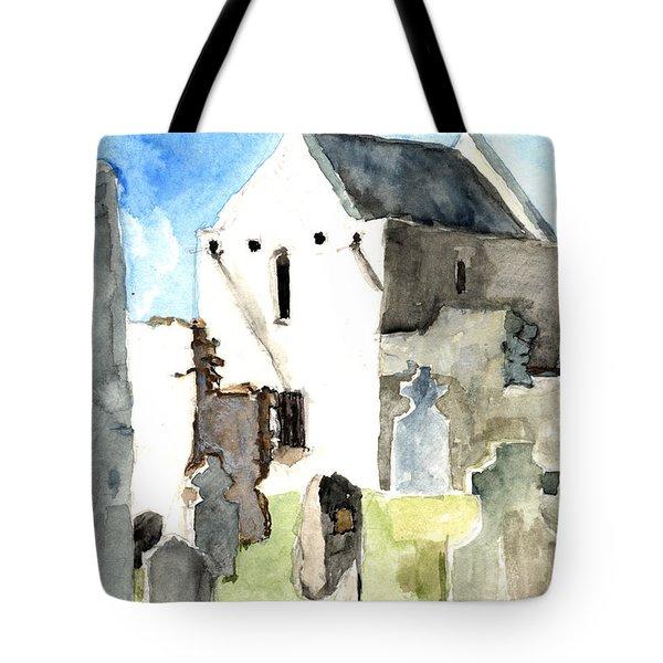 Abbey Watercolor Tote Bag