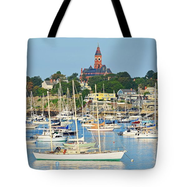 Abbot Hall Over Marblehead Harbor From Chandler Hovey Park Tote Bag