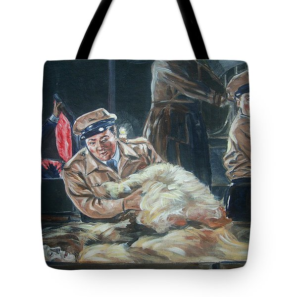 Abbott And Costello Meet Frankenstein Tote Bag