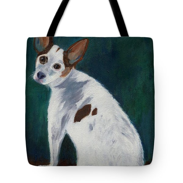 Tote Bag featuring the painting Abby by Jamie Frier