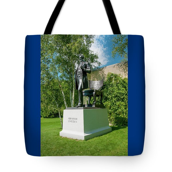 Tote Bag featuring the photograph Abe Hanging Out by Greg Fortier