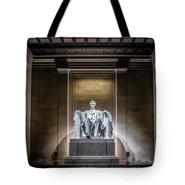 Abe Lincoln Under His Night Lights  Tote Bag