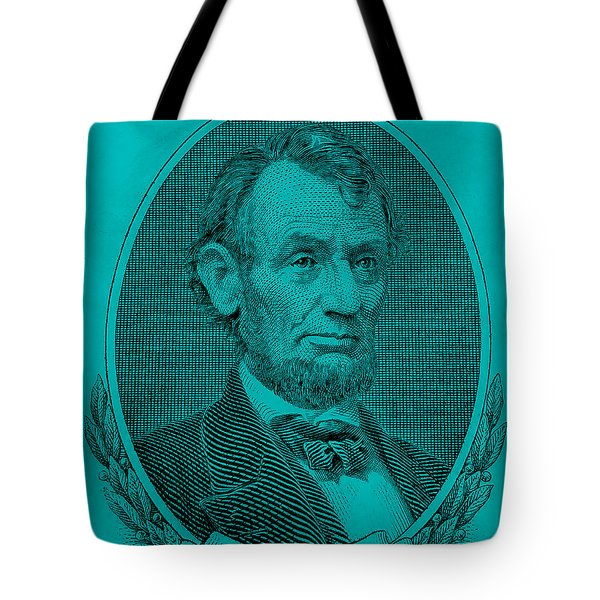 Tote Bag featuring the photograph Abe On The 5 Aqua Blue by Rob Hans