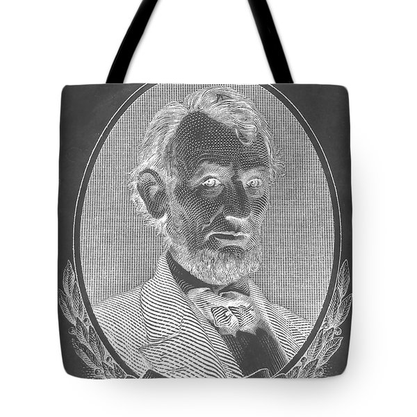 Tote Bag featuring the photograph Abe On The 5 B W Inverted by Rob Hans