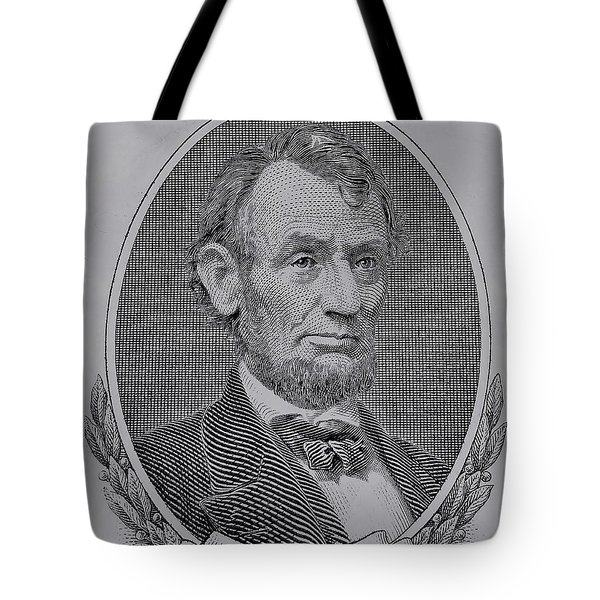 Tote Bag featuring the photograph Abe On The 5 Gray by Rob Hans