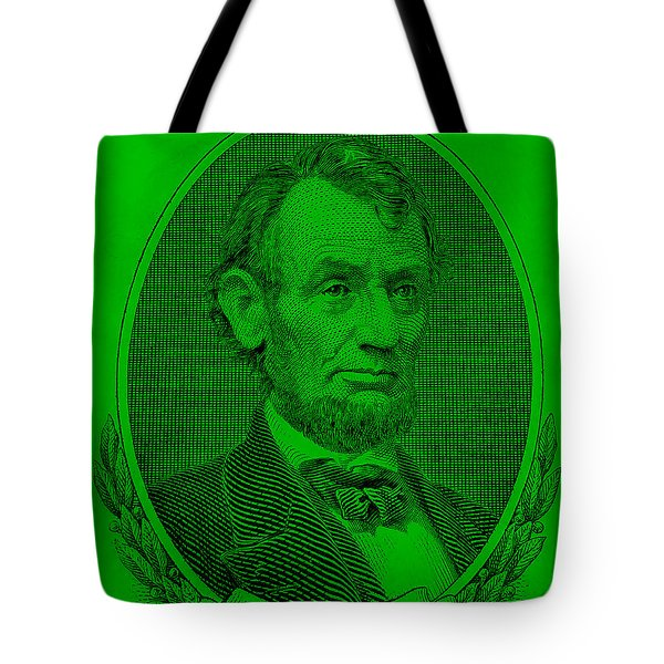 Tote Bag featuring the photograph Abe On The 5 Green by Rob Hans