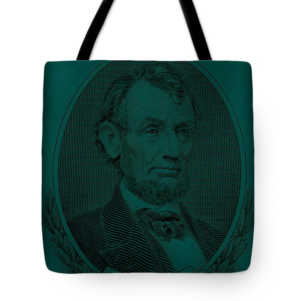 Tote Bag featuring the photograph Abe On The 5 Greenishblue by Rob Hans