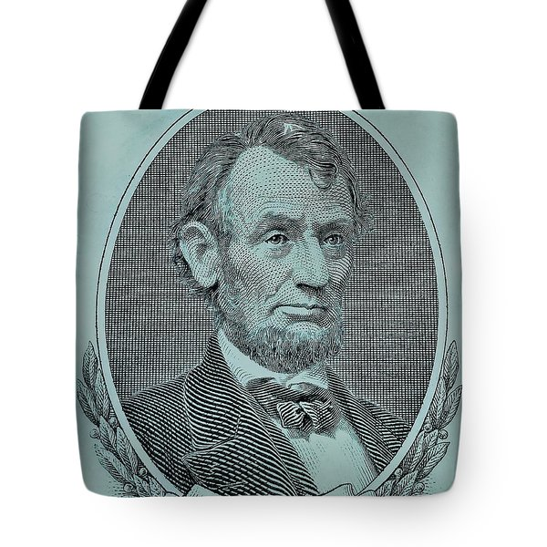 Tote Bag featuring the photograph Abe On The 5 Lite Blue by Rob Hans