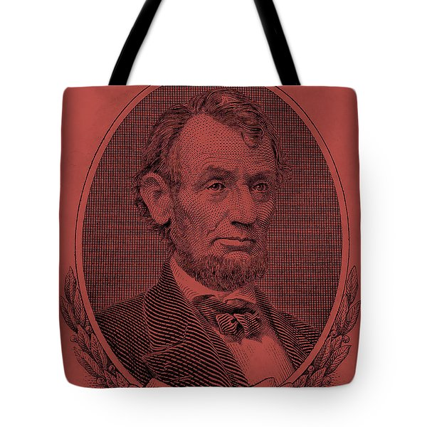 Tote Bag featuring the photograph Abe On The 5 Peach by Rob Hans