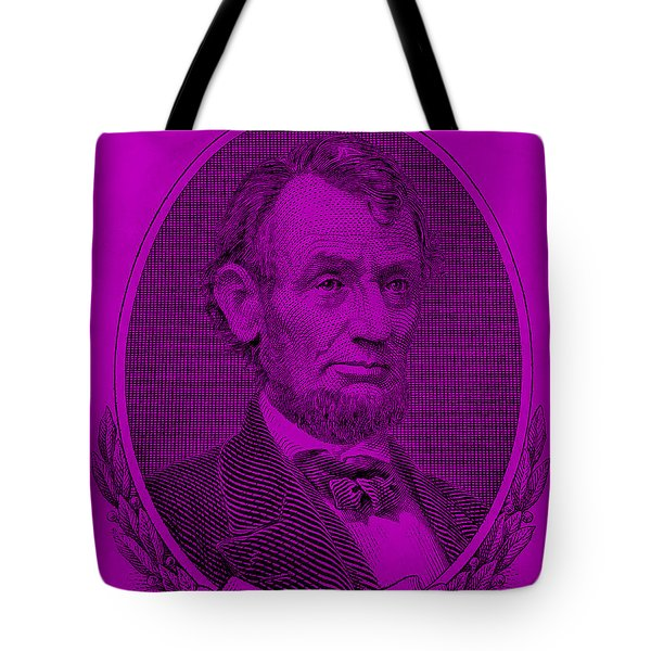 Tote Bag featuring the photograph Abe On The 5 Purple by Rob Hans