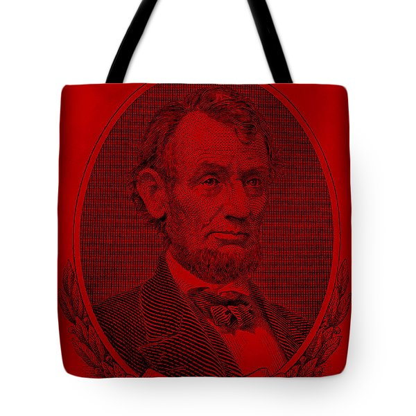 Tote Bag featuring the photograph Abe On The 5 Red by Rob Hans