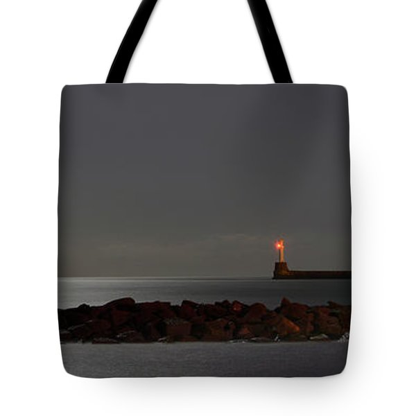 Aberdeen Beach At Night _ Pano 2 Tote Bag