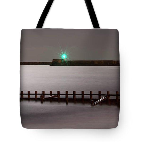 Aberdeen Beach At Night _ Pano Tote Bag