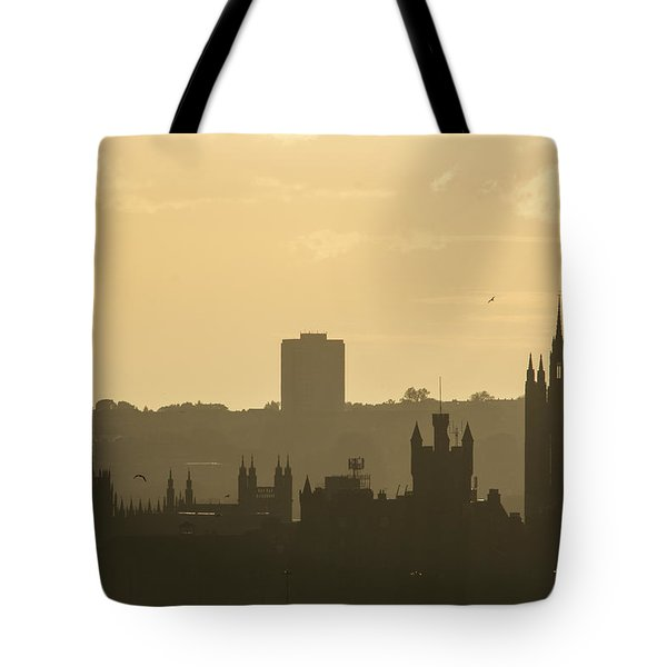 Aberdeen Skyline Silhouettes Tote Bag