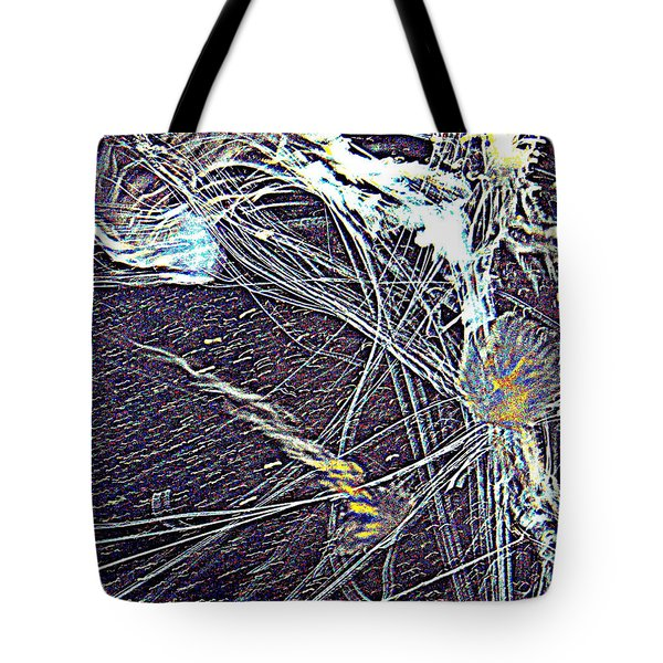 Tote Bag featuring the photograph Aberration Of Jelly Fish In Rhapsody Series 1 by Antonia Citrino