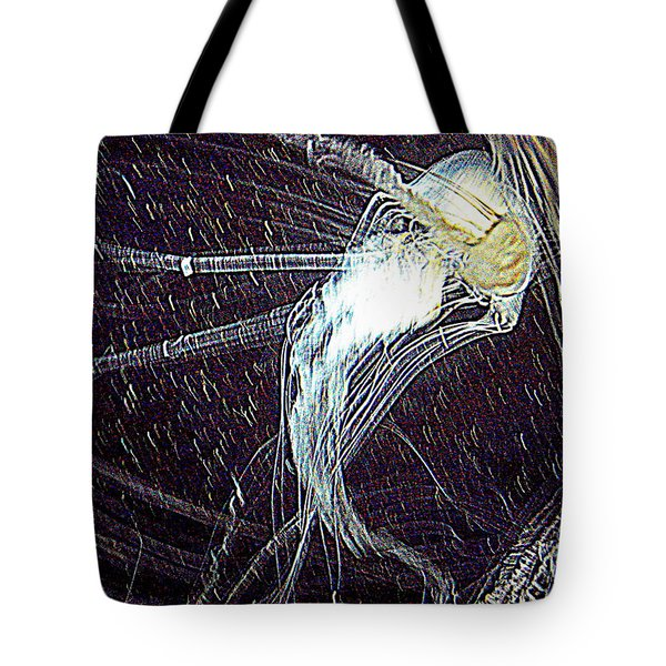 Tote Bag featuring the photograph Aberration Of Jelly Fish In Rhapsody Series 2 by Antonia Citrino