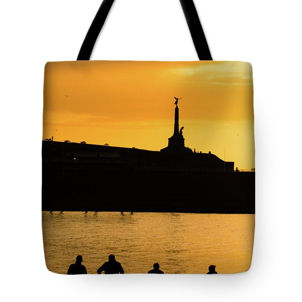 Aberystwyth Sunset Silhouettes Tote Bag