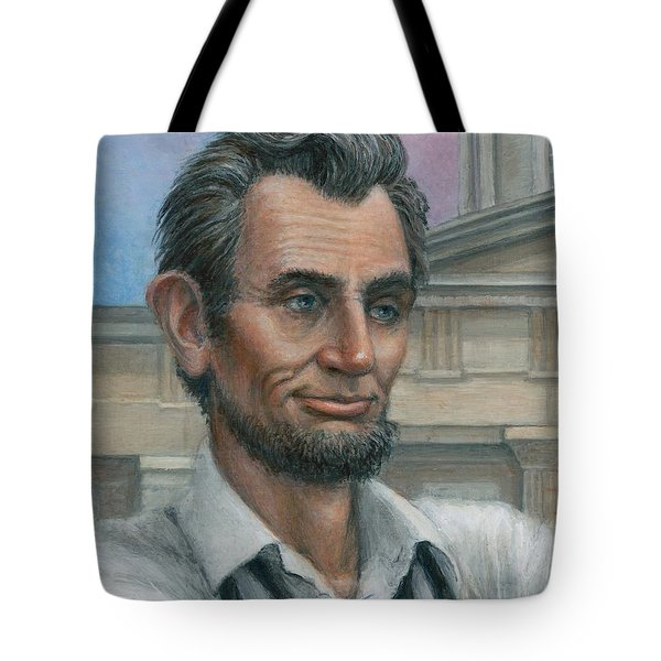 Abe's 1st Selfie - Detail Tote Bag by Jane Bucci