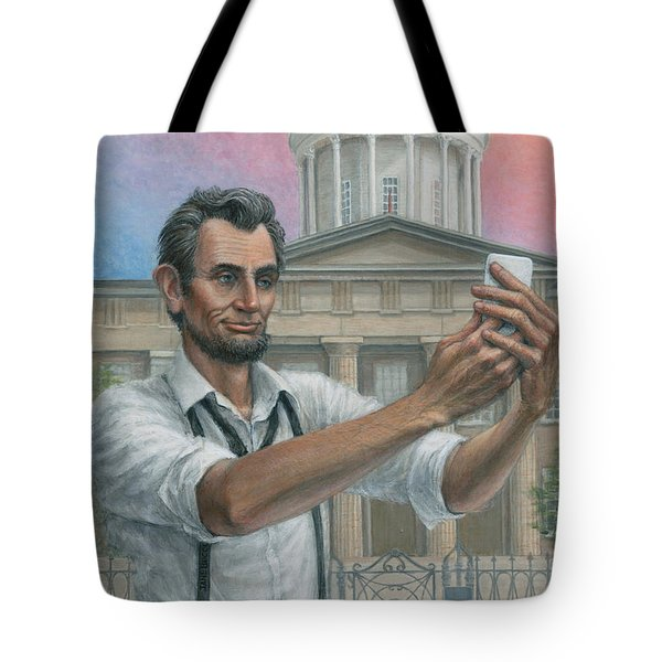 Abe's 1st Selfie Tote Bag by Jane Bucci