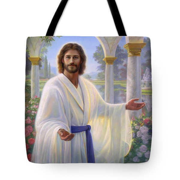 Abide With Me Tote Bag by Greg Olsen